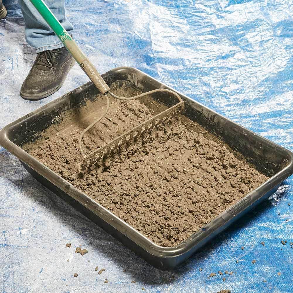 Mix Concrete with a Rake