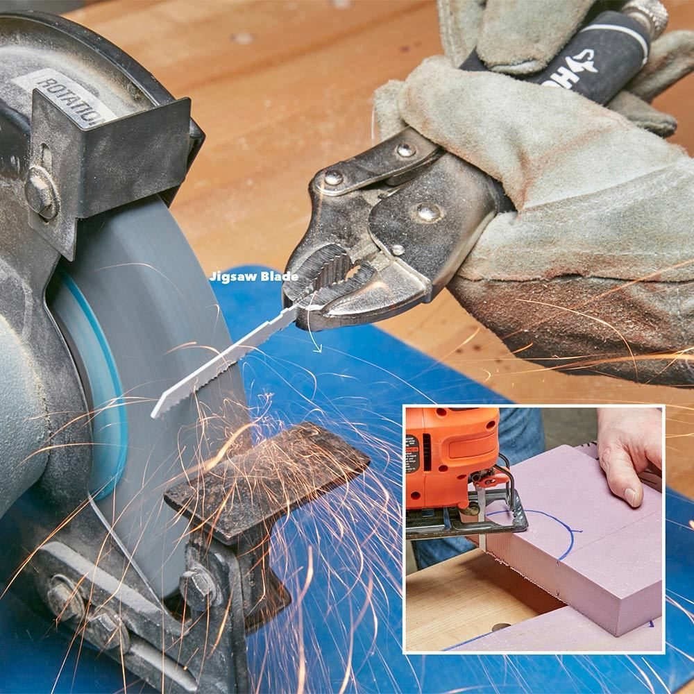 7. Make a blade for cutting foam