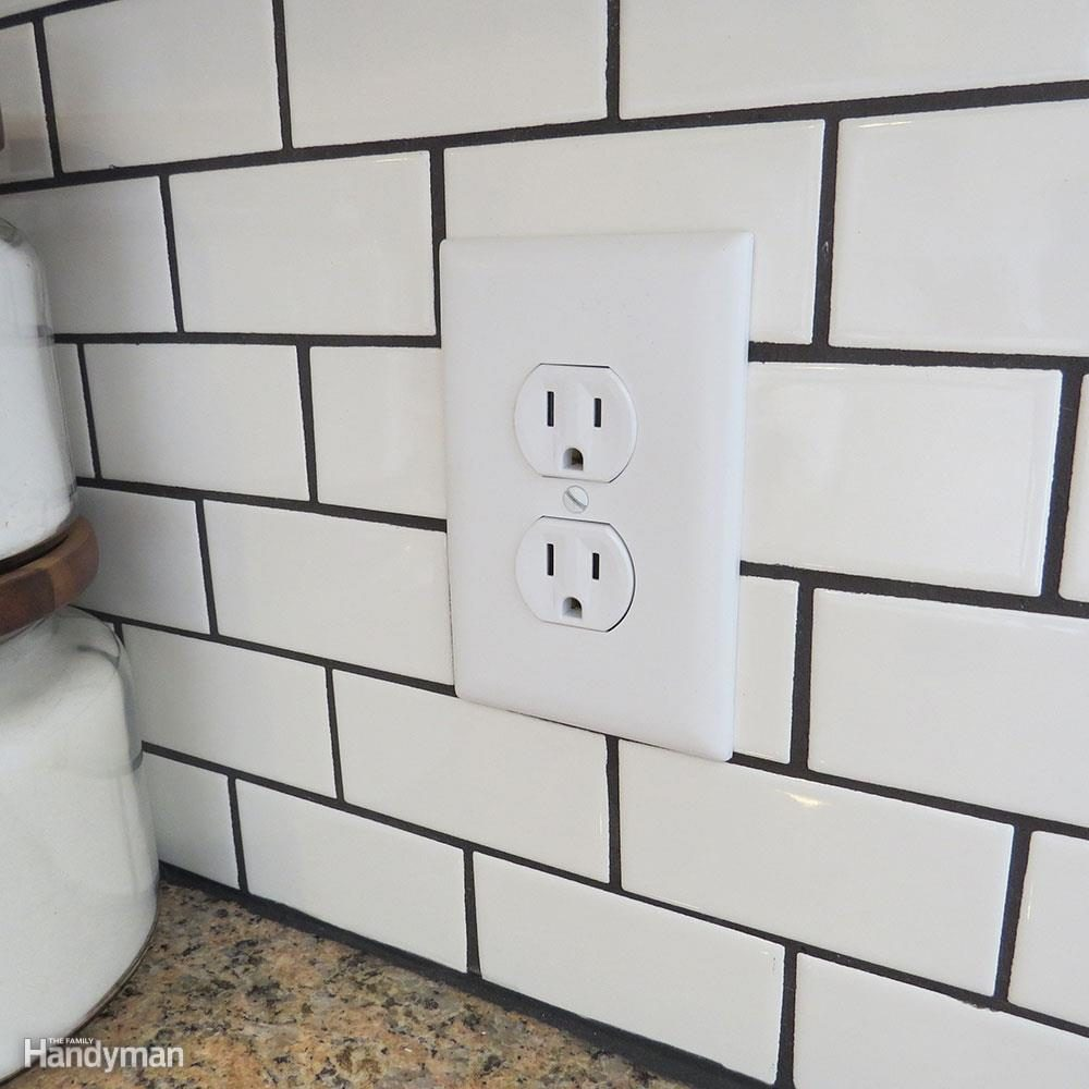 Subway Tile Kitchen Do: Replace Outlet Covers