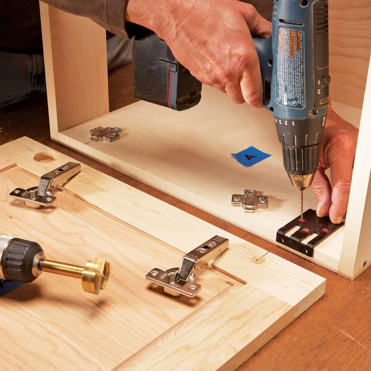 Drill shallow starter holes
