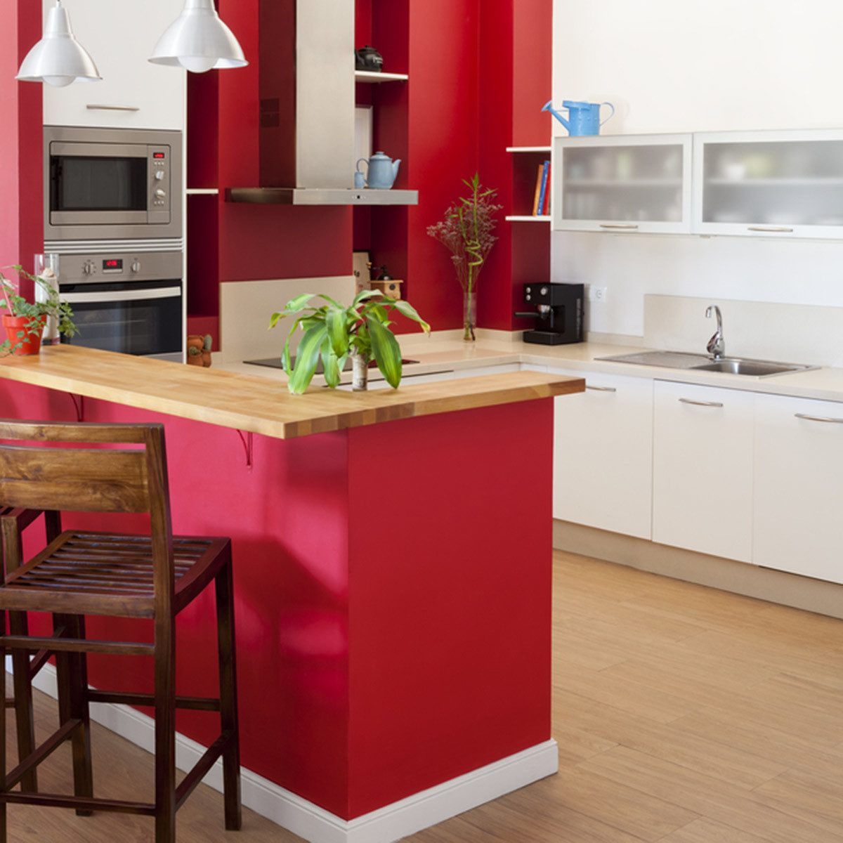 Kitchen Cabinet Colors: Bold Primary Colors