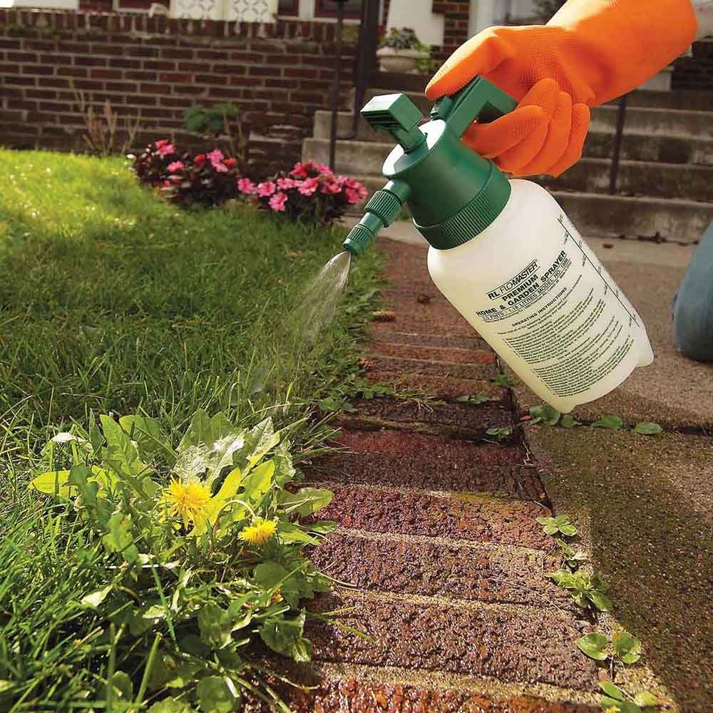 Simpler and cheaper: 2. Eliminate a few weeds one by one