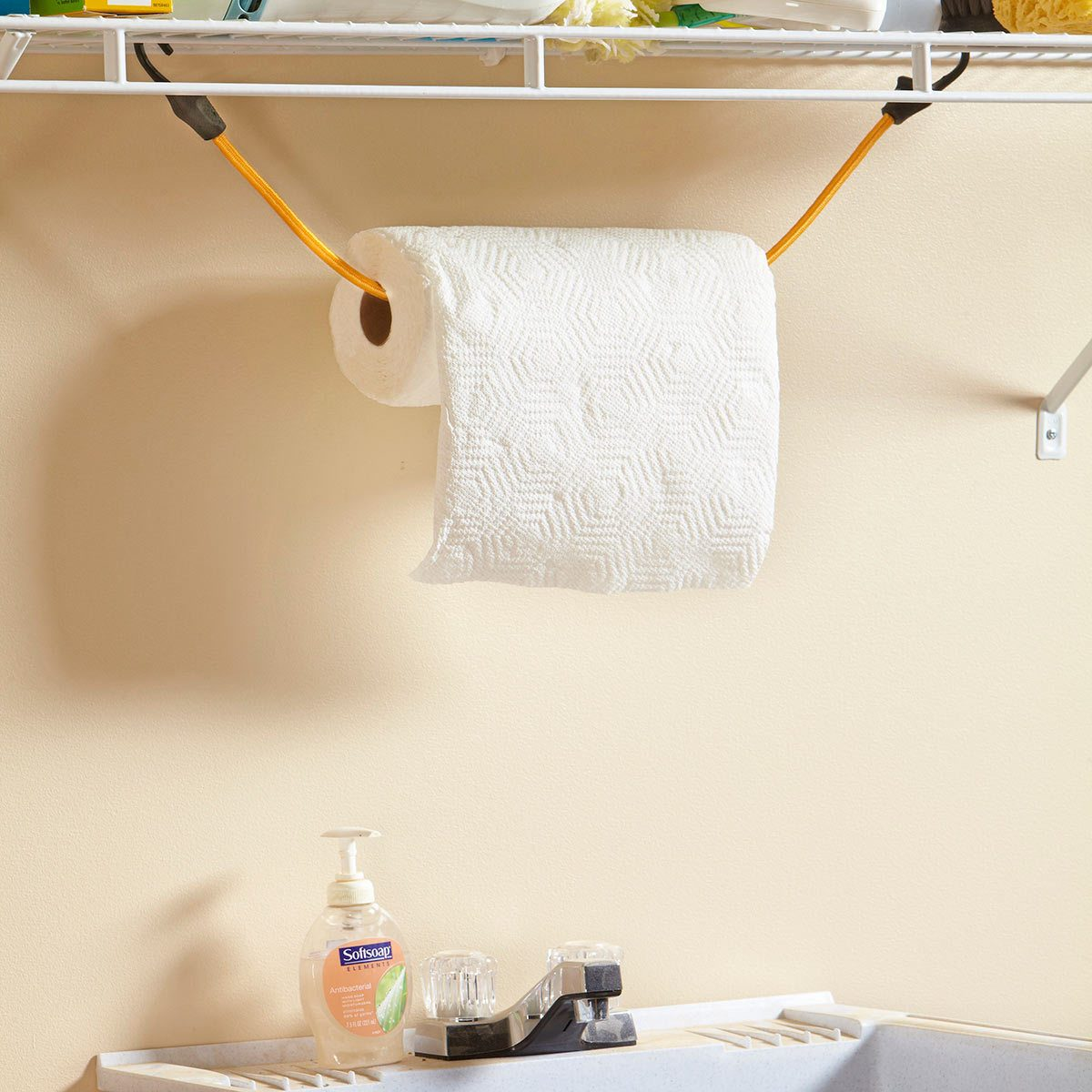 Under-Shelf Paper Towel Holder