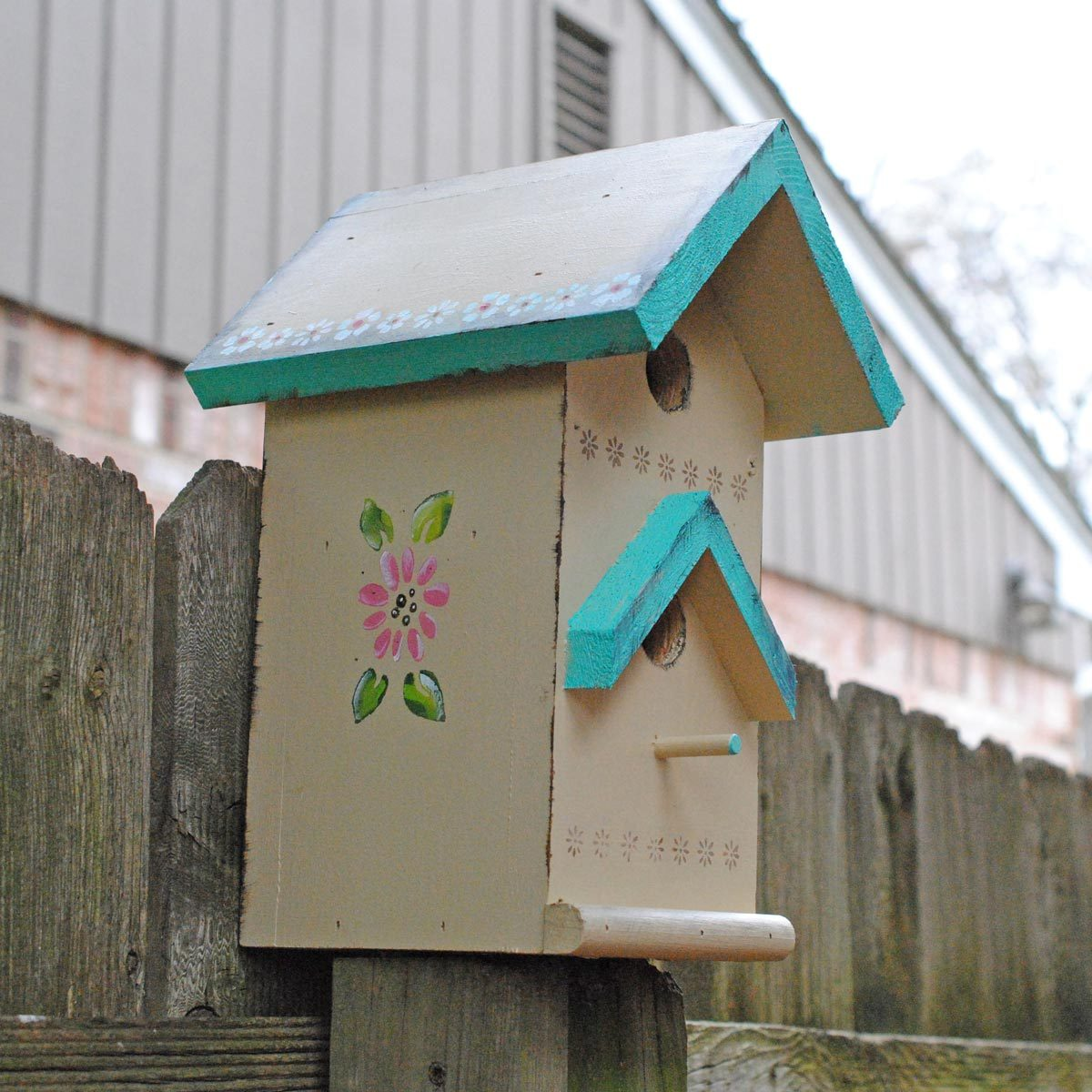 tole painting birdhouse finished