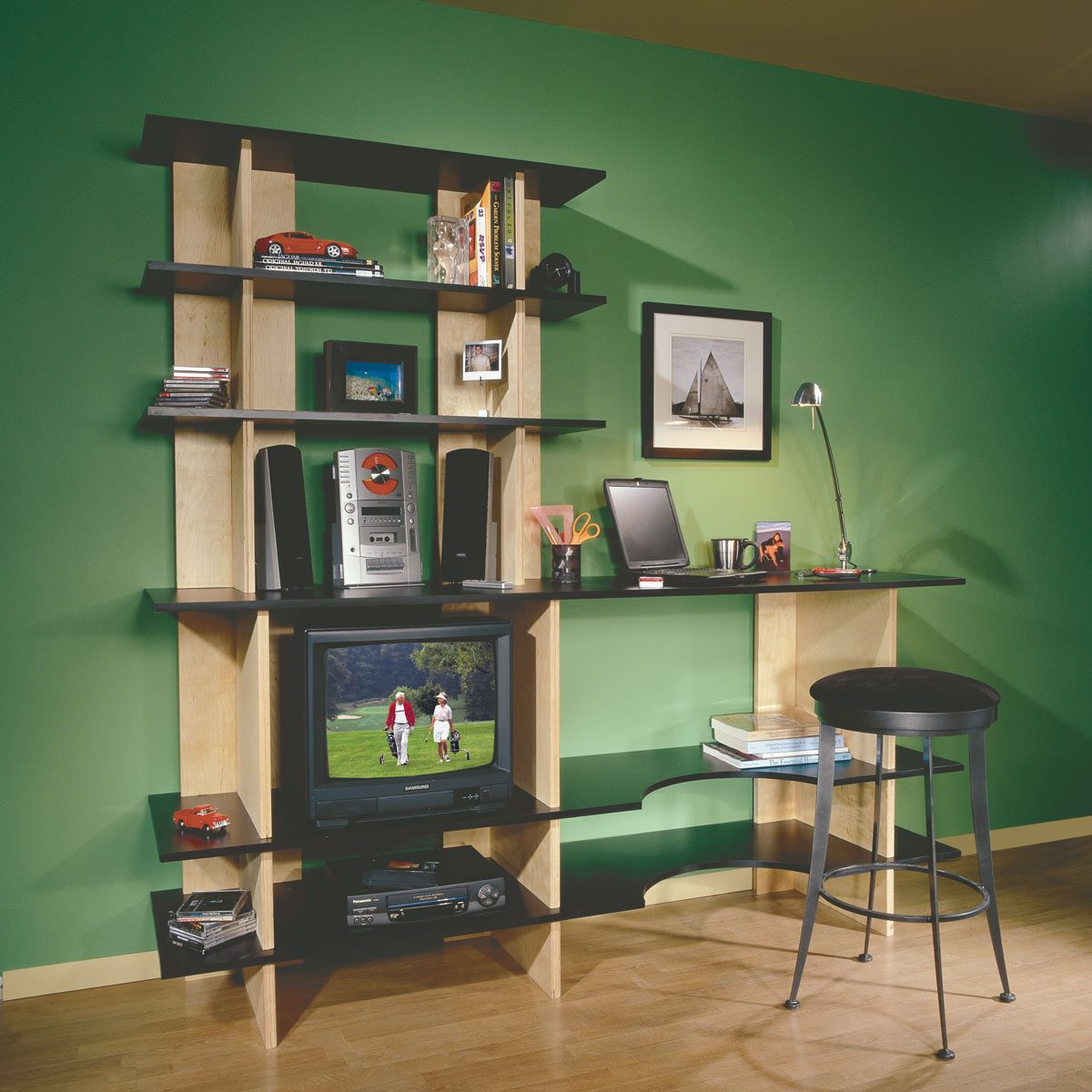 Stackable Bookshelves plus a Desk