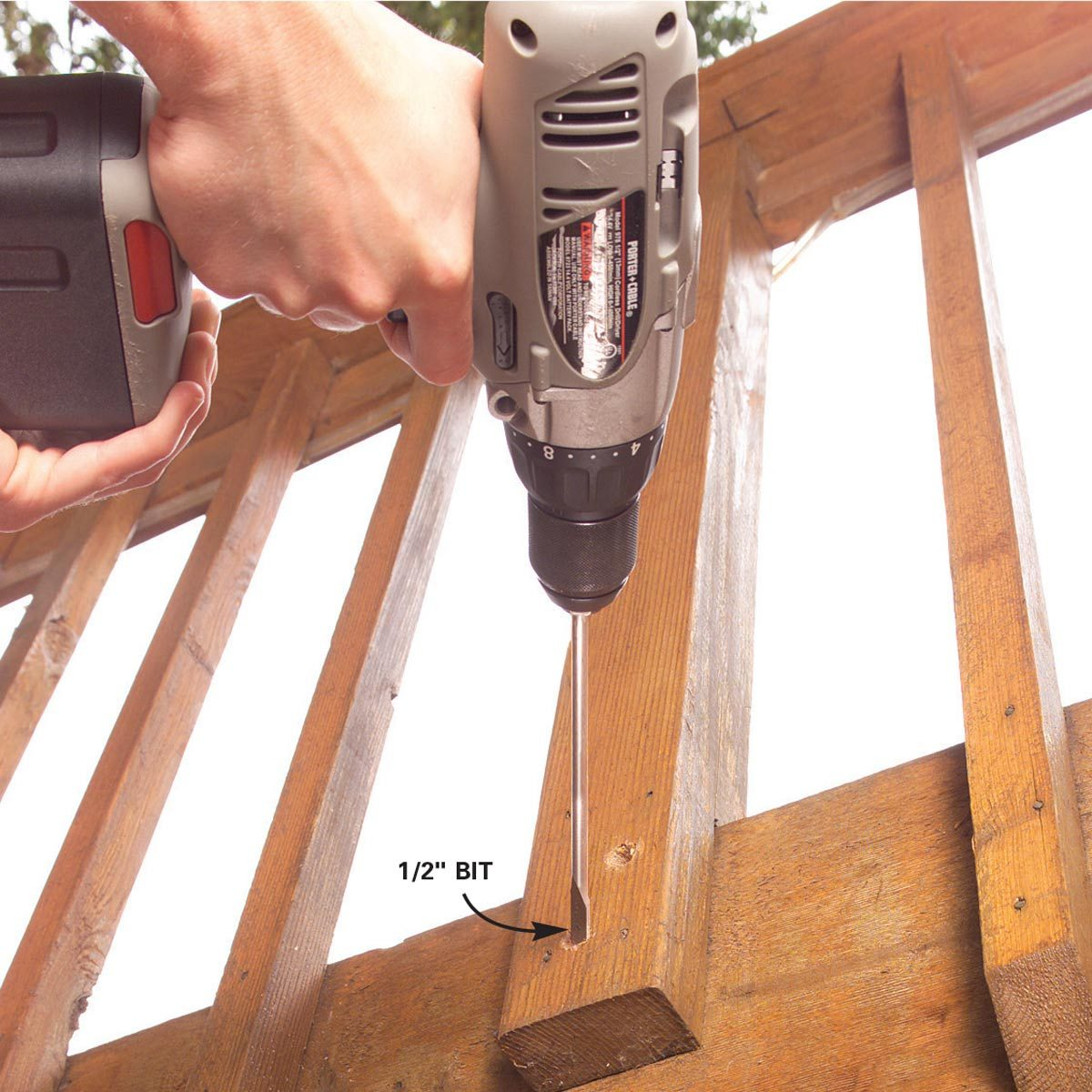 1. Drill bolt holes