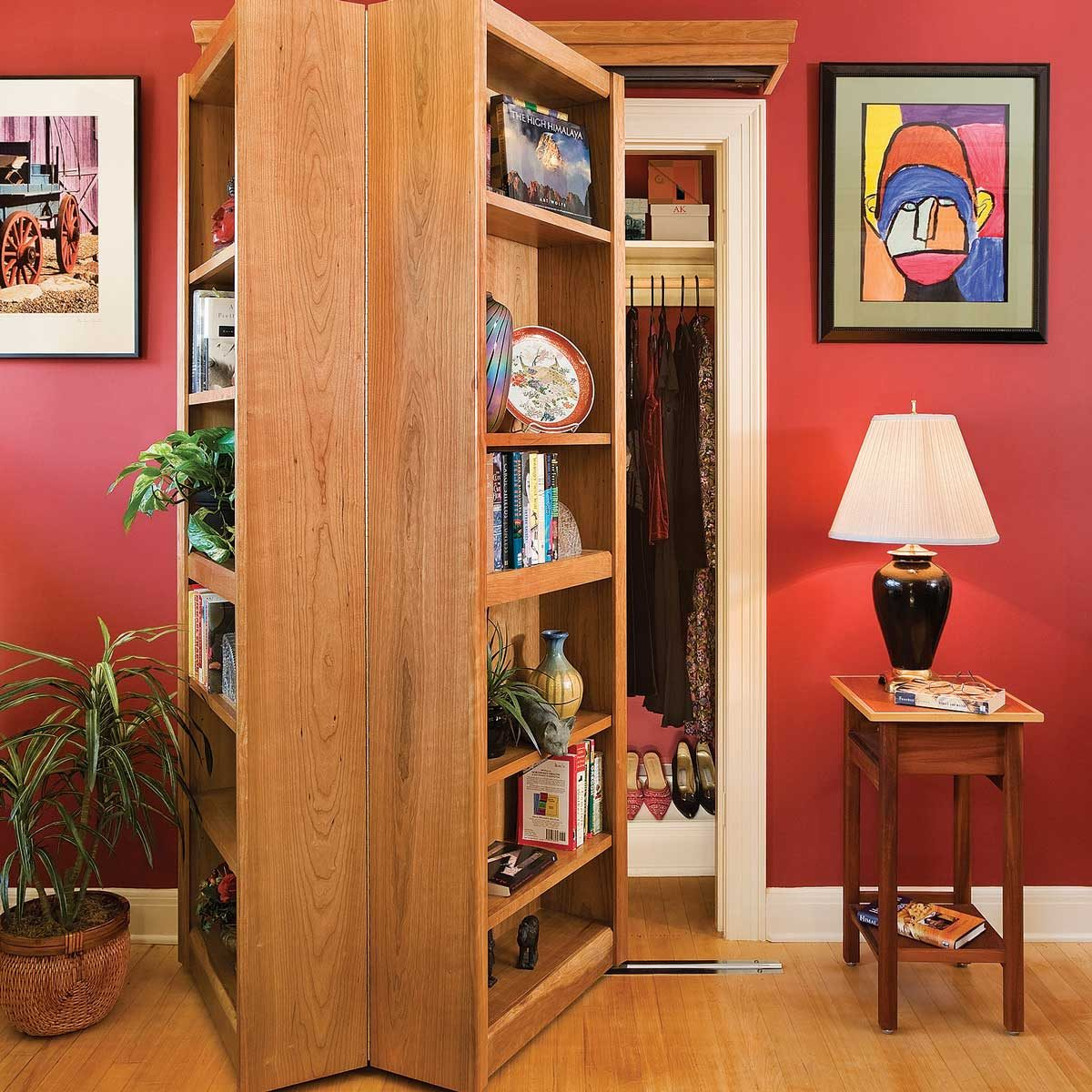 Bifold Bookcase Hides a Secret Room