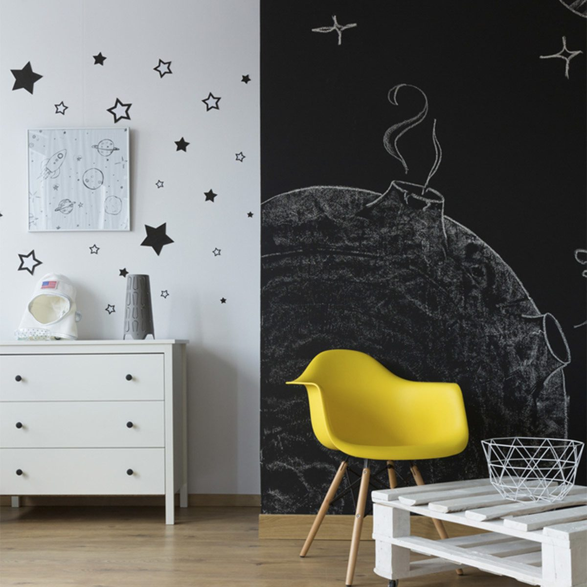 Modern Accent Wall: Stick-On Style