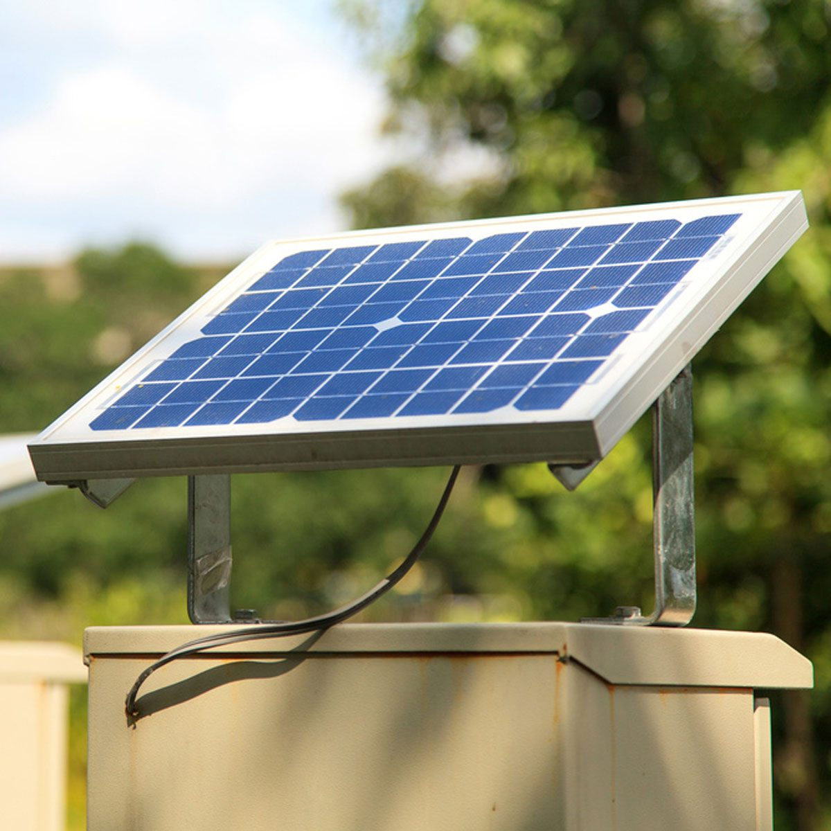 Solar-Powered Shed
