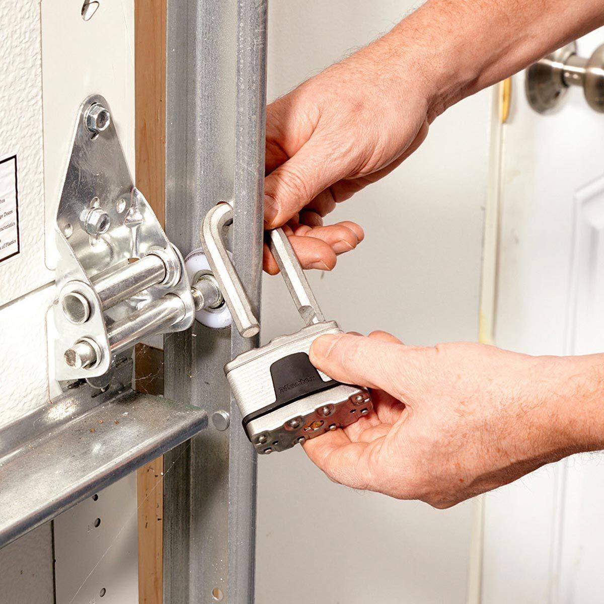 Lock the overhead garage door