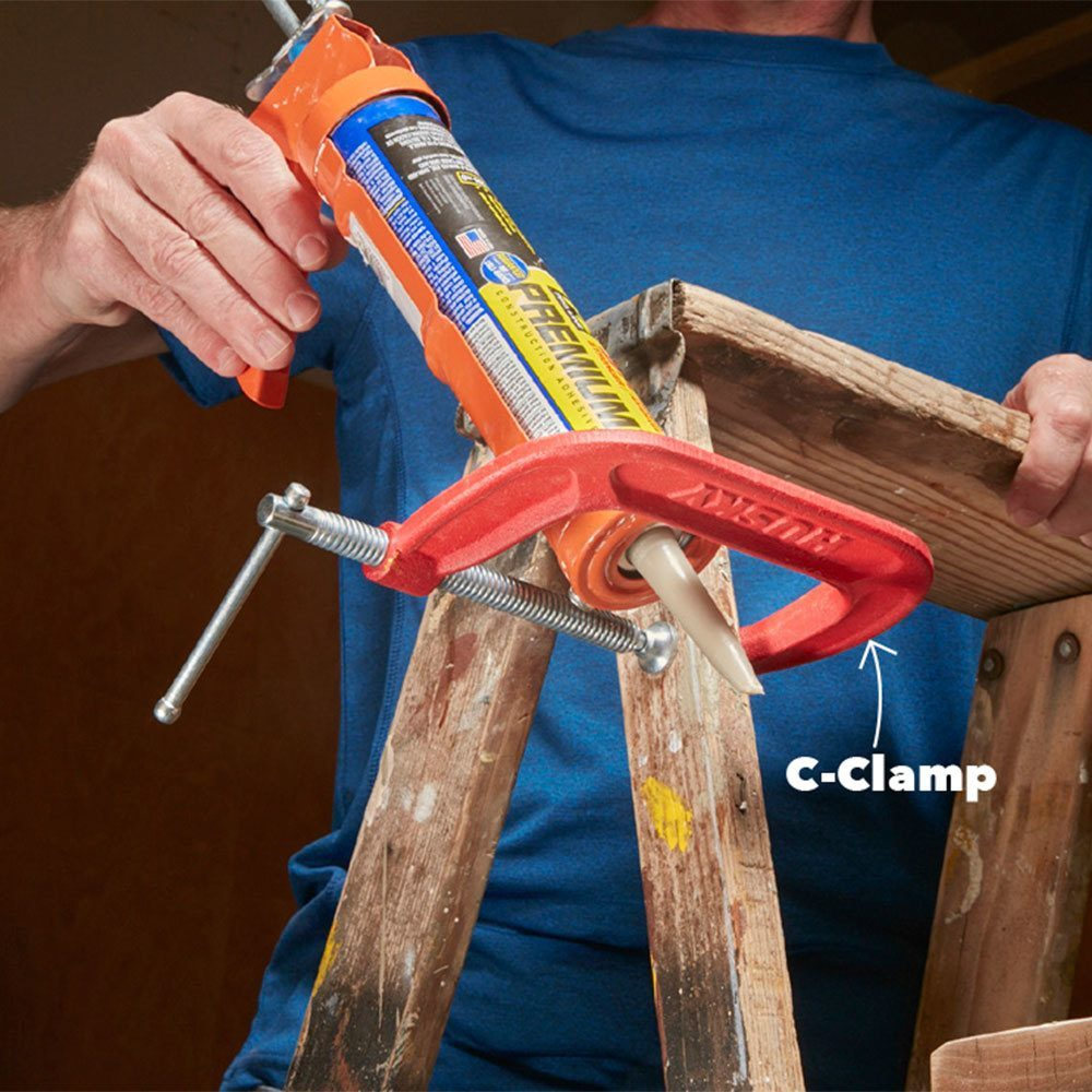 Caulk caddy