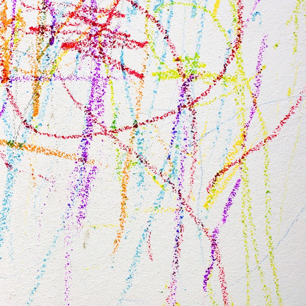 Remove crayon from wallpaper