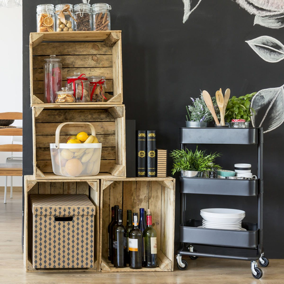 Coffee Storage Cart