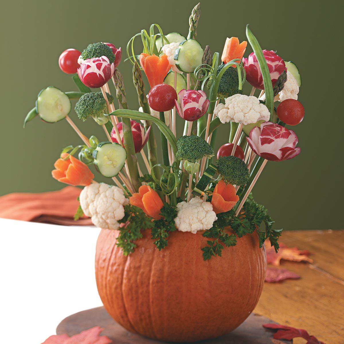 Pumpkin Vegetable Tray