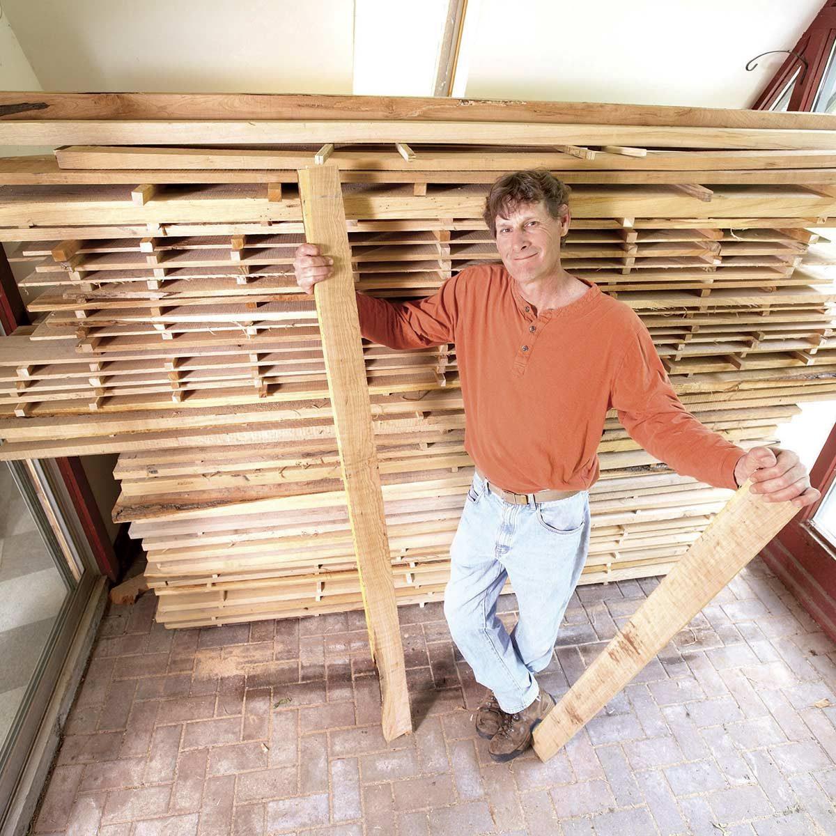 Keep wood straight