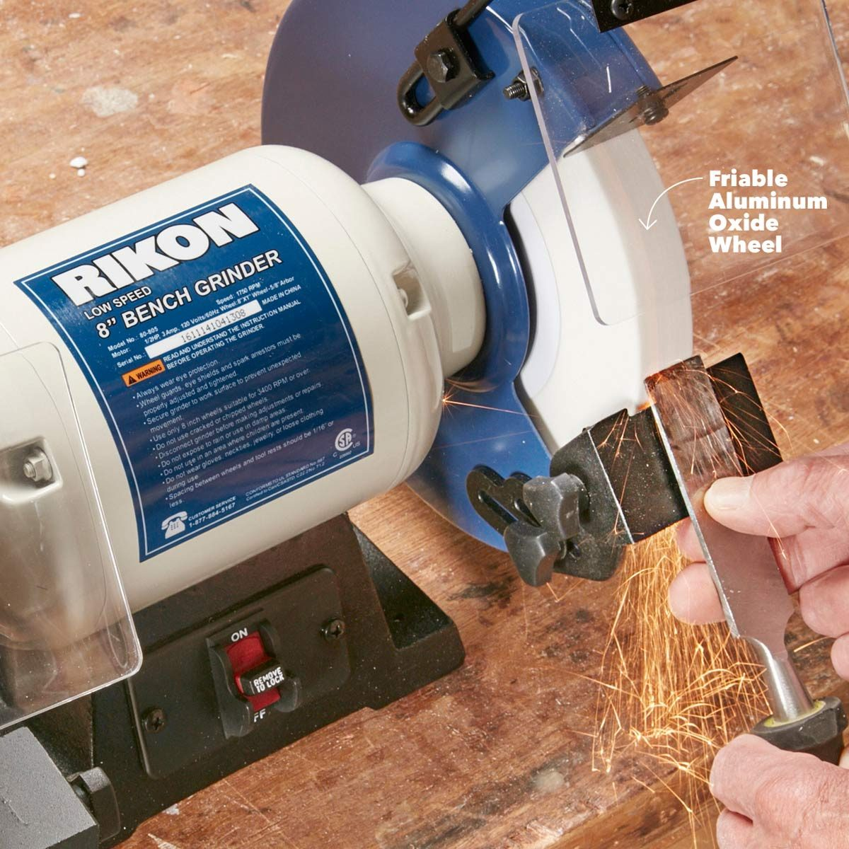 Consider a Low-Speed Grinder for Sharpening