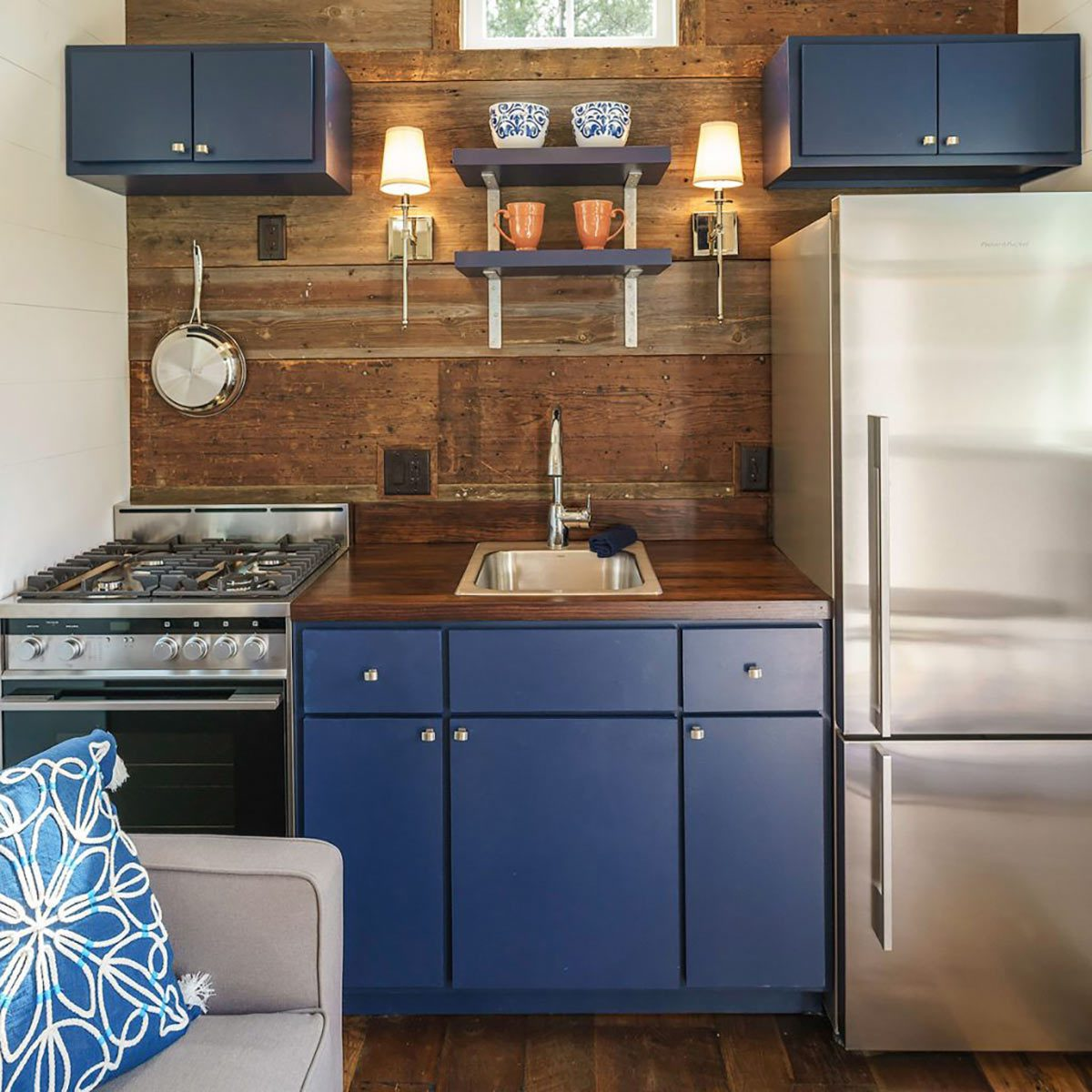 Driftwood Homes Used Real Barn Wood in the Indigo