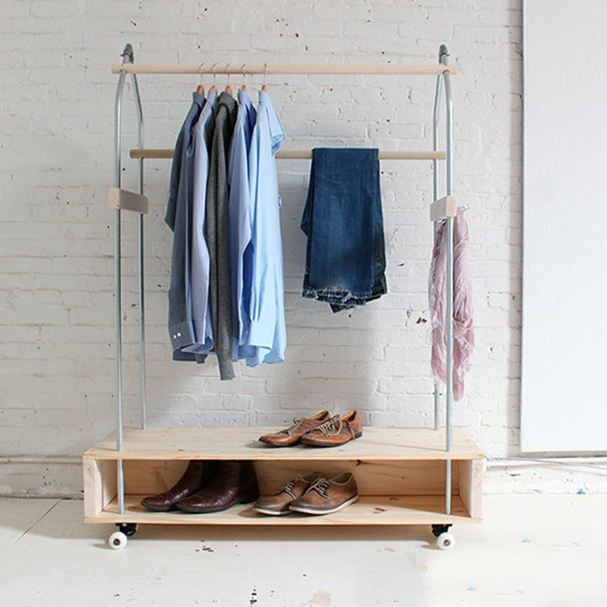 Best Way to Store Clothes: Try a Rolling Garment Rack