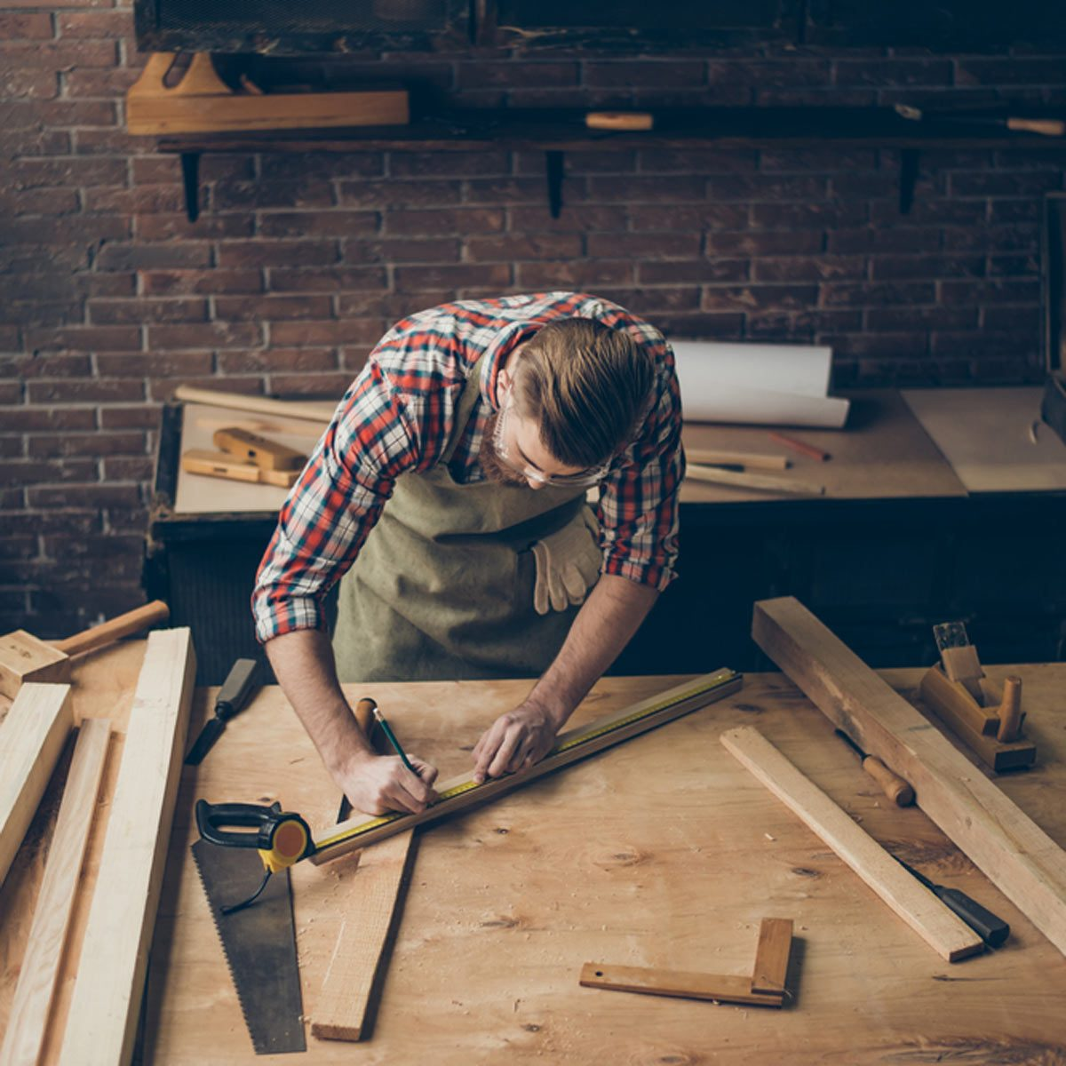 Unfinished Basement Woodworking Workshop
