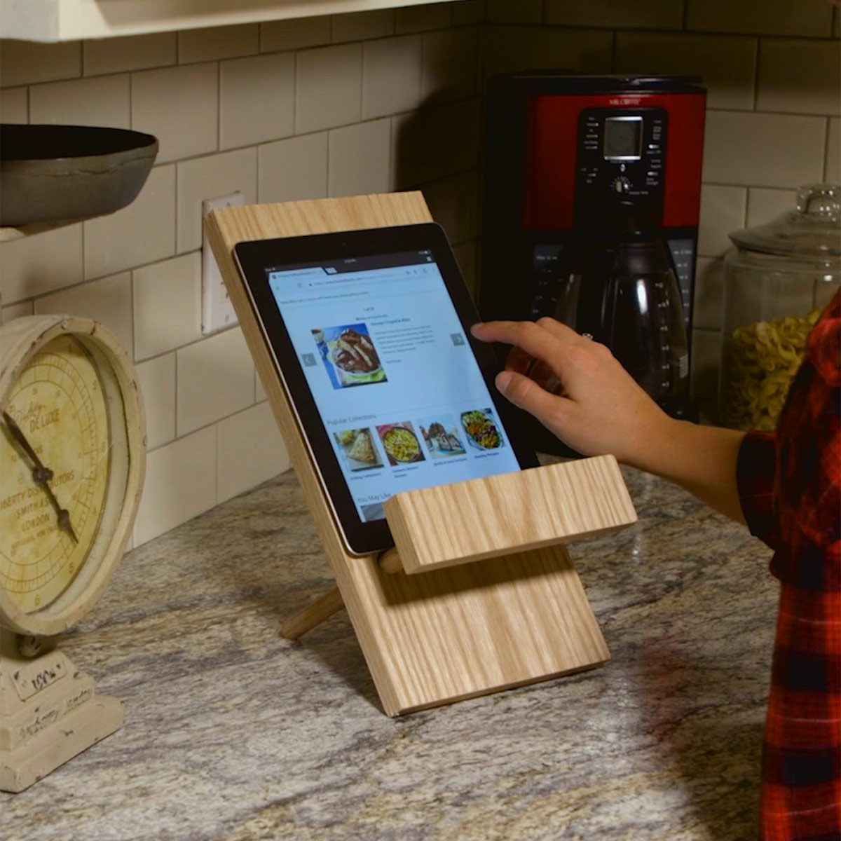 simple tablet stand DIY tablet stand