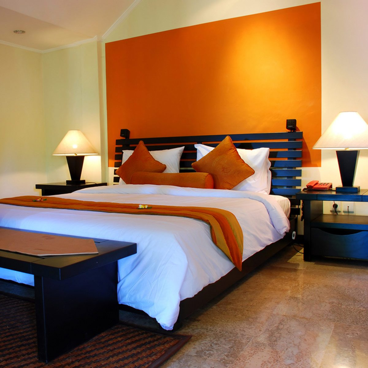 Try Orange for a Bold Bedroom Color