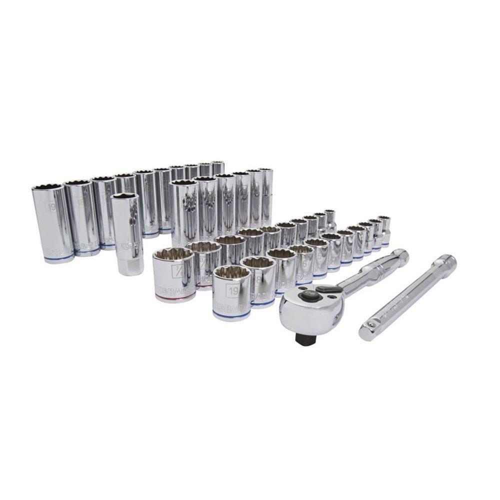 Kobalt 40-Piece SAE and Metric Mechanic's Tool Set