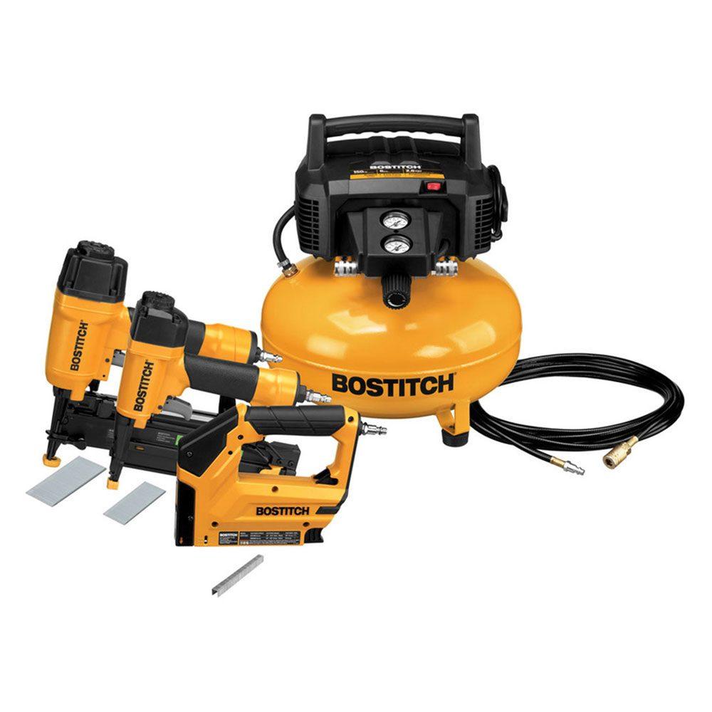 Bostitch Compressor and Pneumatic Tools Combo