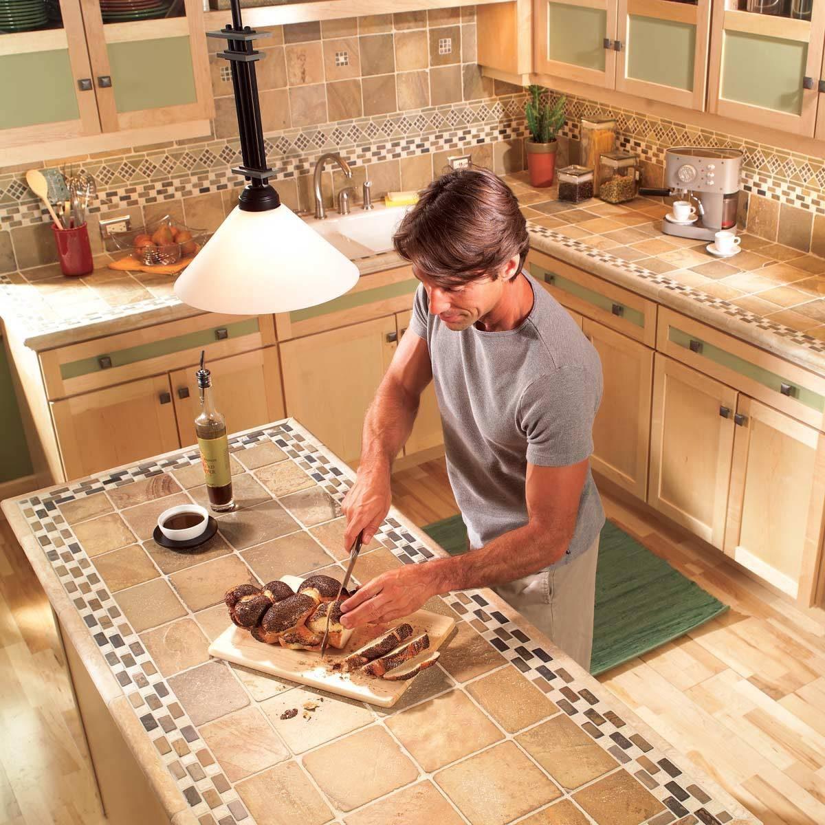 Ceramic Tile New Countertop: Pros