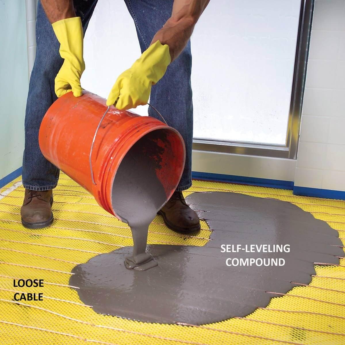 FH07DJA_474_54_012 electric heated floors loose cable heated floor heated flooring