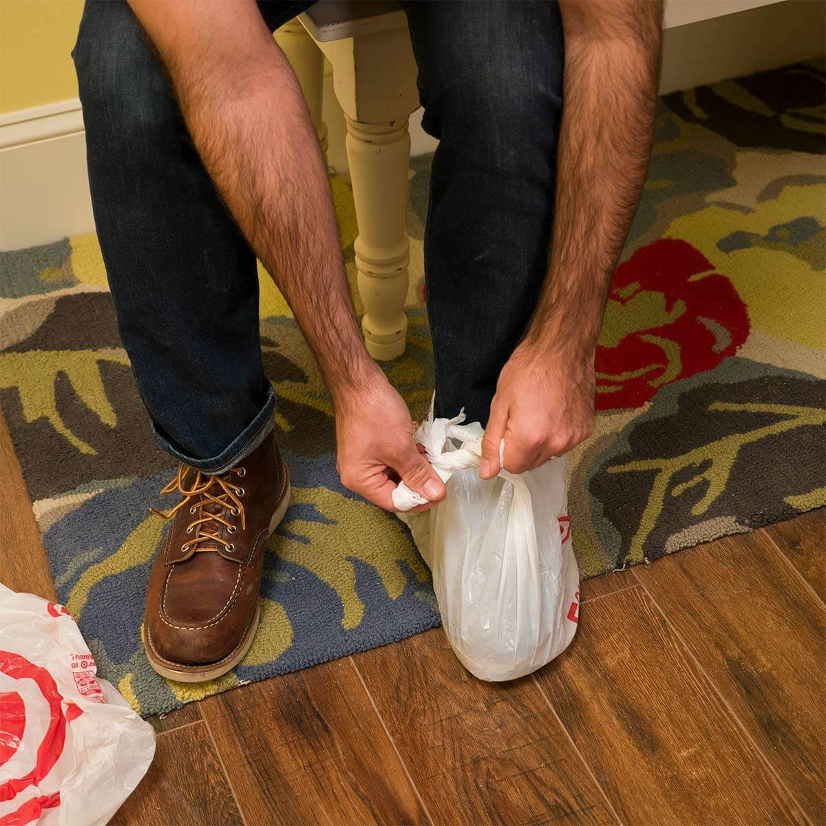 Grocery Bag Shoe Covers