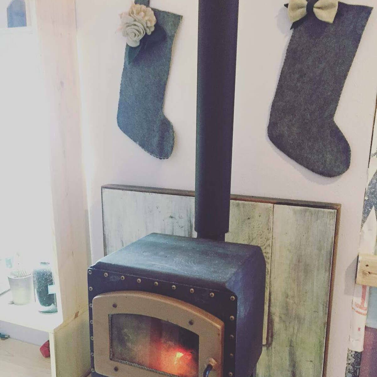 Stockings Hanging over the Fireplace
