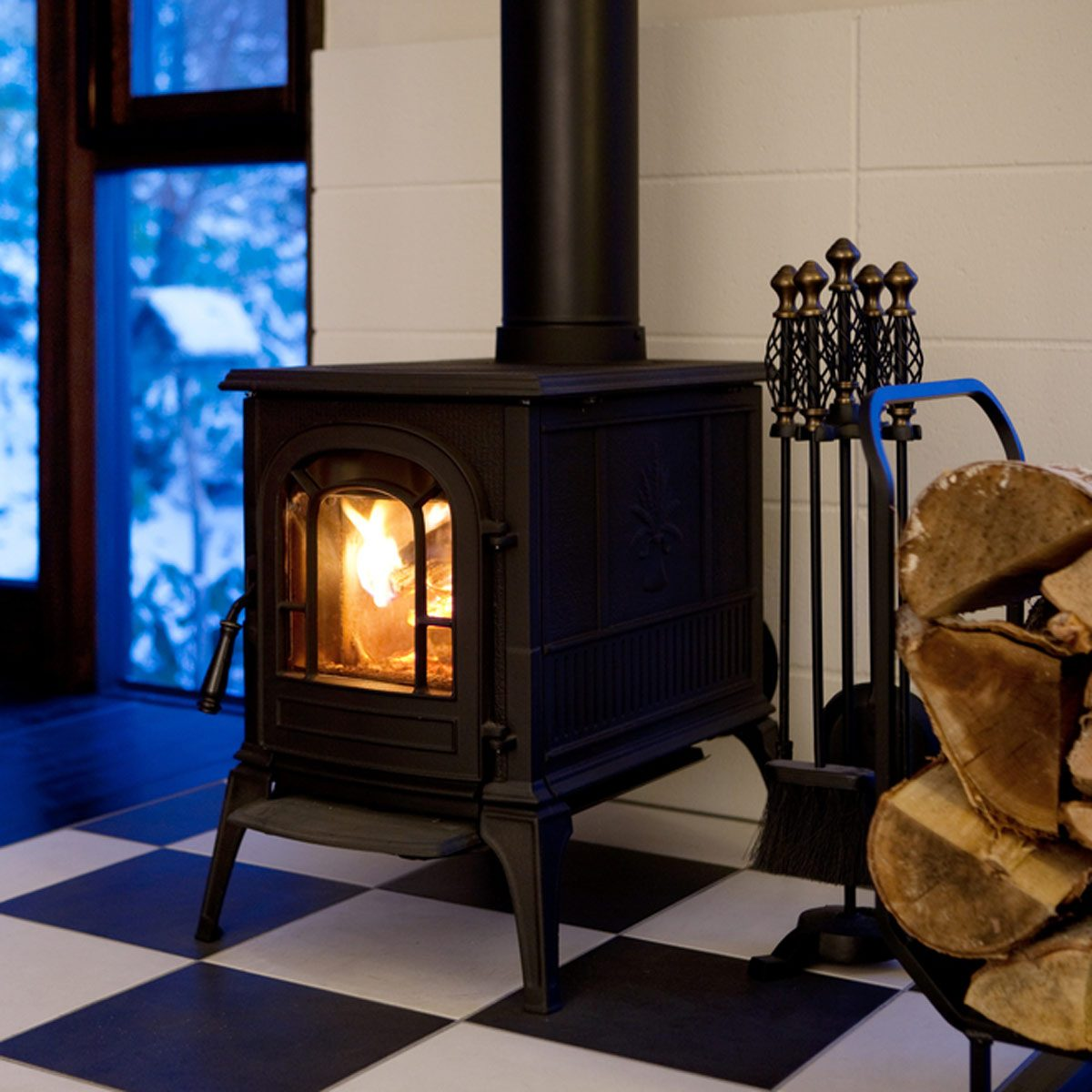 Set Up a Wood Stove by the Window