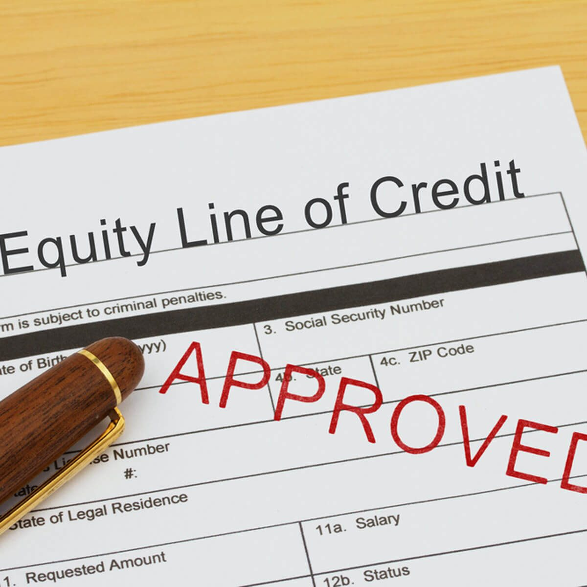 What About a Home Equity Line of Credit?