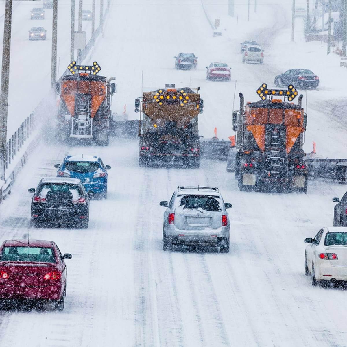 Use Caution Around Snow Plows