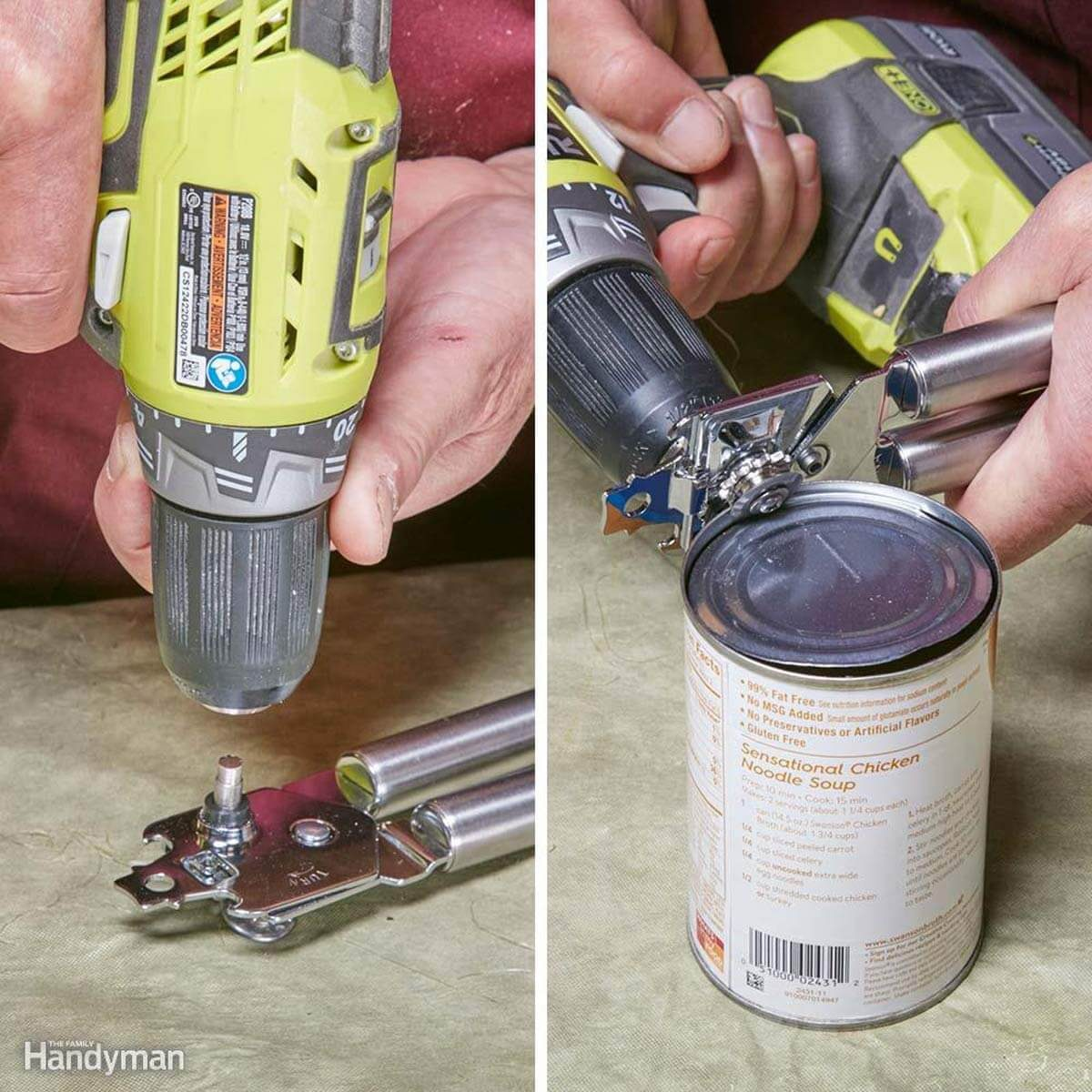 Drill Open Cans