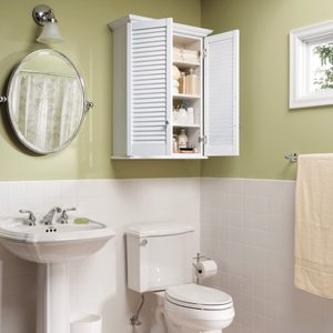Make a Super-Simple Bath Cabinet