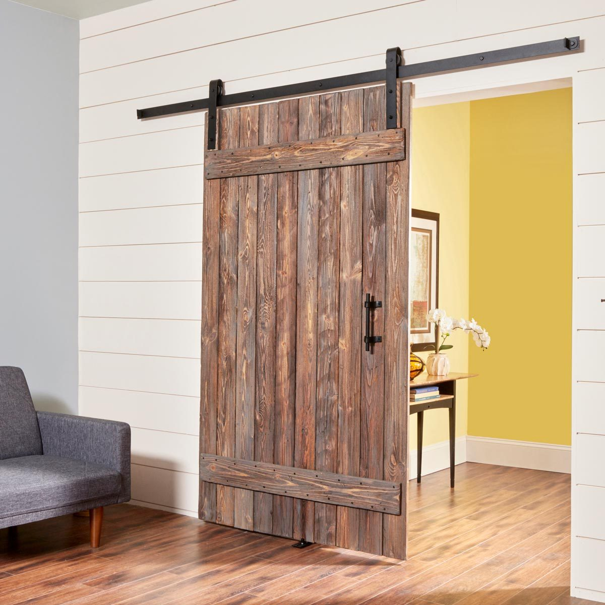 DIY Rustic Barn Door and Hardware
