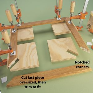 Simple Corner Gluing Aid