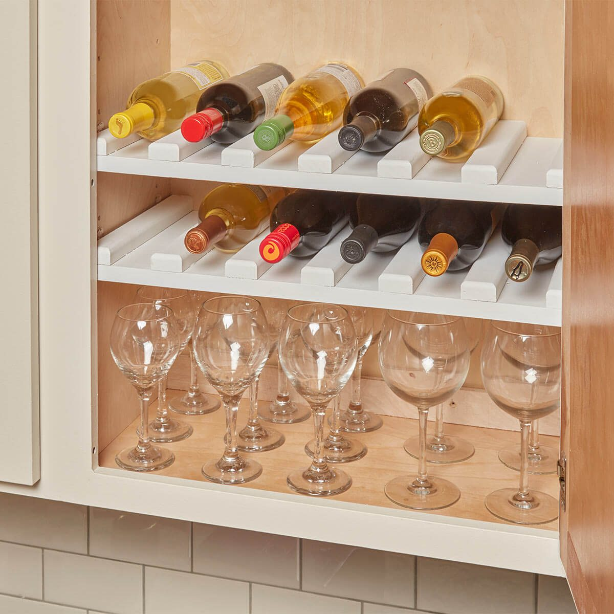 Easy-to-Make Wine Rack Cabinet