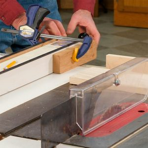Never Use Just the Table Saw Fence to Crosscut Boards!