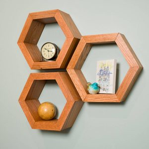 Saturday Morning Workshop: How To Build Hexagon Shelves