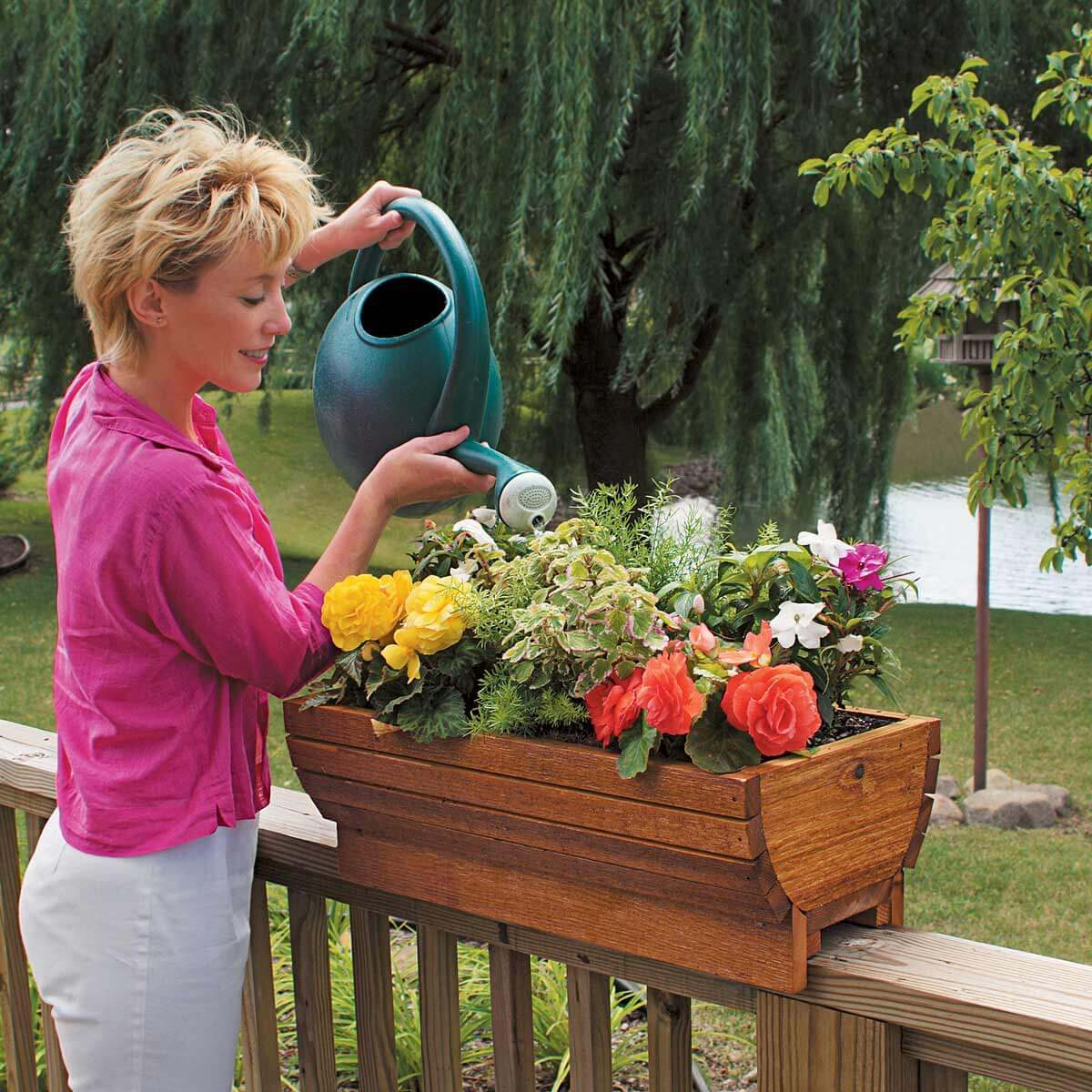 sturdy deck planter flower box