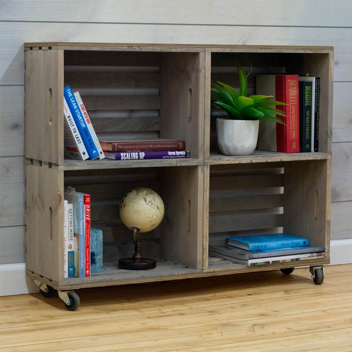 crates and pallet bookcase
