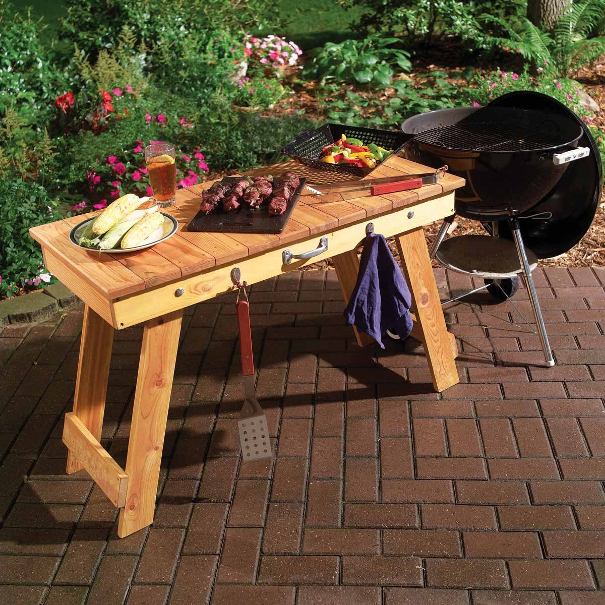 fold-up grill table