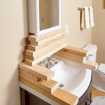 Bathroom Remodeling Hack to Get Pieces at the Right Height