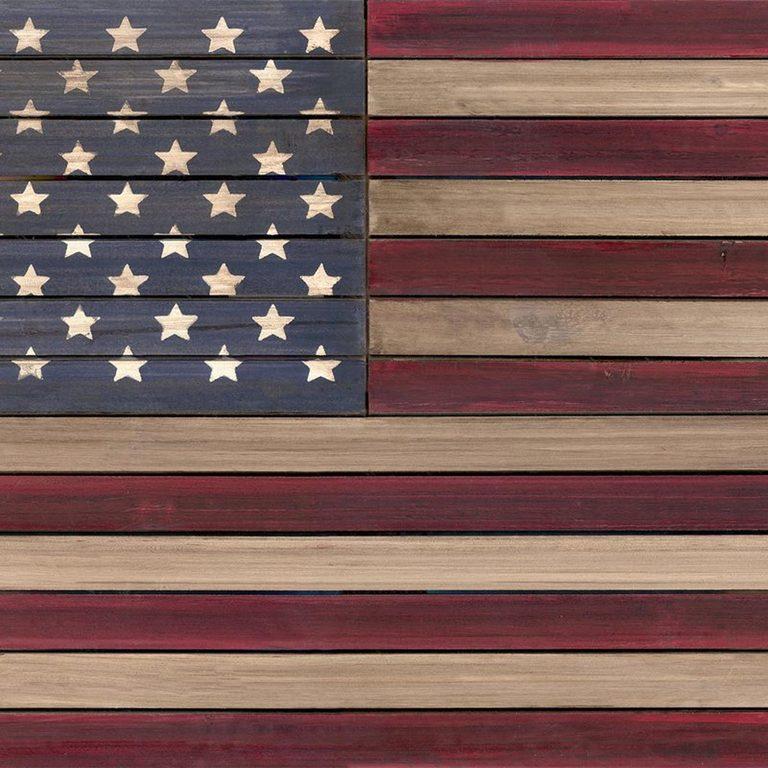 us flag wood