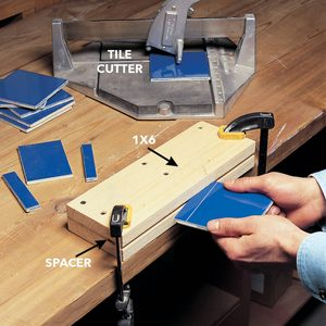 Tile-Snapping Jig for Narrow Cuts
