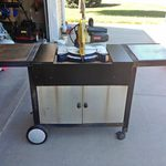 Upcycled Miter Saw Stand