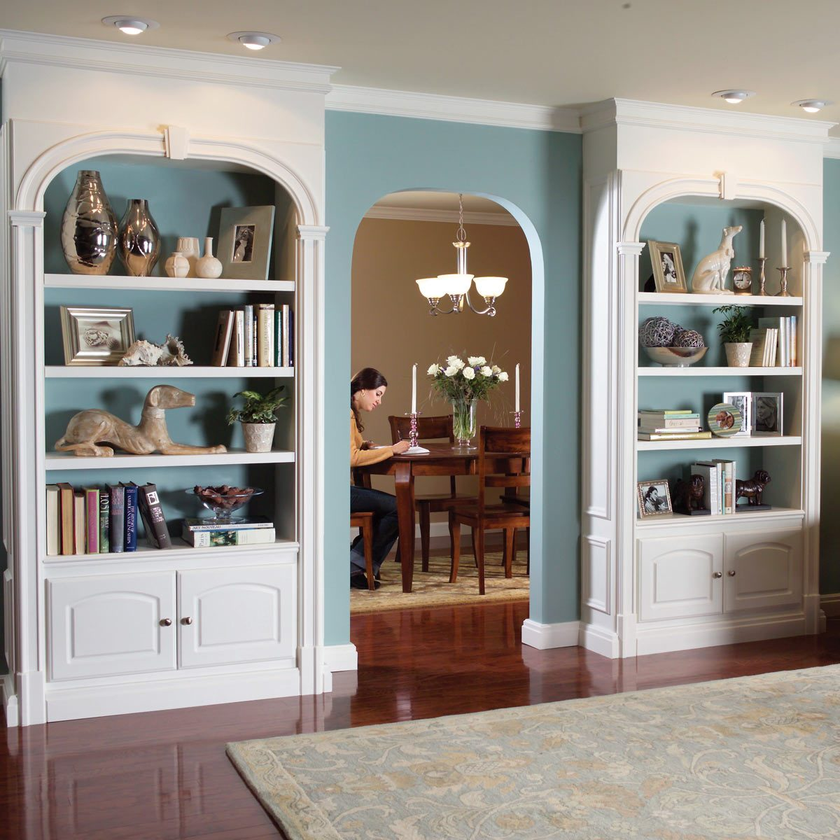 Wall Unit Bookshelves: Dress Up Your Bookcase with Trim