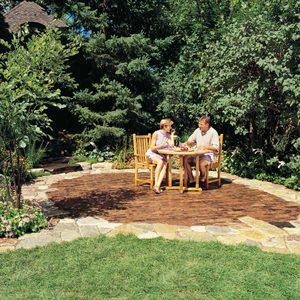 Build a Beautiful Stone and Brick Backyard Patio